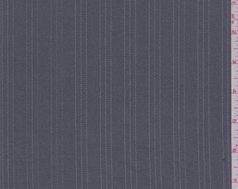 Dark Grey/Silver Pinstripe Poly Blend Suiting, Fabric By The Yard
