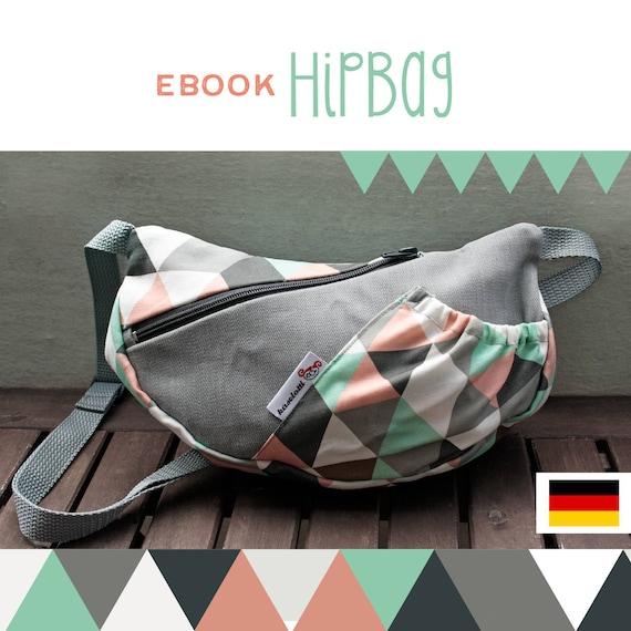 GERMAN tutorial HipBag, DIY, Anleitung, selber Nähen, Schnittmuster ...