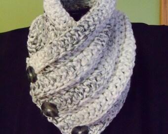 Chunky Crochet Cowl Neck Scarf Accessories Handmade Womens Accessory