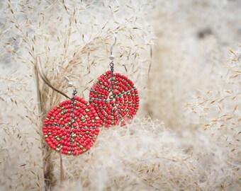 Maasai Red and Gold Dangles