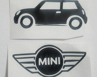 Mini Cooper Decal / Mini Cooper Logo Decal