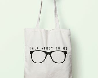 Talk Nerdy To Me Tote Bag Long Handles TB0047