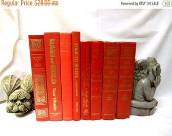 SALE Bundle of 8 Bright Red Books