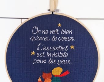 The Little Prince - cross stitch eChart (French)