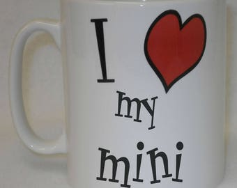I Love Heart My Mini Mug Can Be Personalised Great Sports Car Driver Owner Cooper Gift