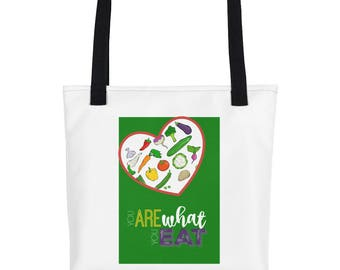 You Are What You Eat Grocery and Tote bag