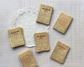 Vintage tobacco coupons