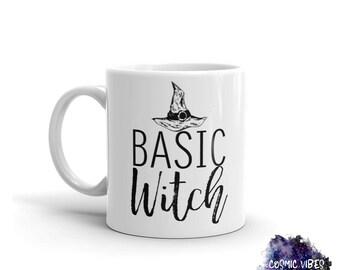 Basic Witch Halloween Coffee Mug - Funny Ceramic Coffee Cup - Mother Mug  - Cocoa Mug - Funny Mug - Tea Mug - Food Lover - Gift Idea