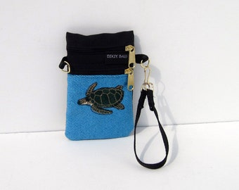 Sea Turtle Small Cell Phone Case on Blue