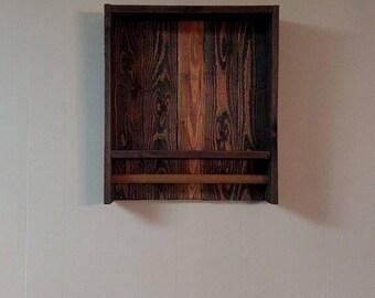 Wood Towel Rack - Reclaimed Wood Shelf - Kitchen Wall Decor - Kitchen Storage - Kitchen Towel Rack - Bathroom Towel Rack - Bathroom Storage