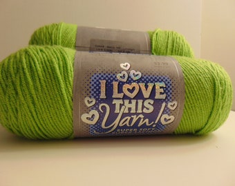 Limelight - I Love This Yarn worsted weight 100 % acrylic - 3014