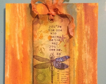 Dragonfly Tag on Canvas