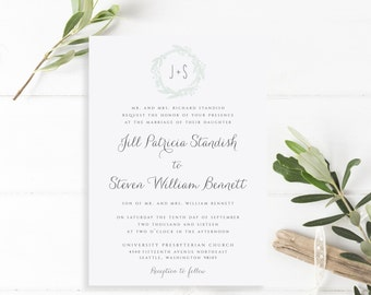 Wedding Invitation, Invitation Suite, Classic Invitations, Modern, Wedding Invite, Printable Wedding Invitation, PDF, The Jill Collection