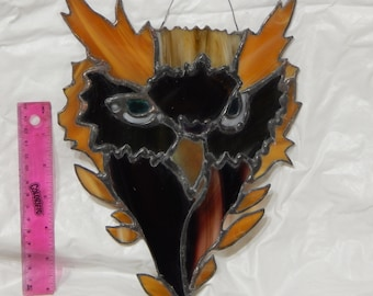 Homemade stained glass Leaf Owl