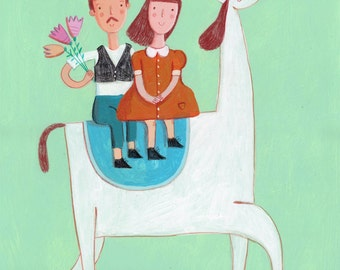 Prince and princess  Original painting
