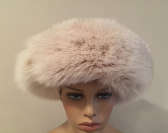 Sliver Fox Fur Ladies Winter Hat