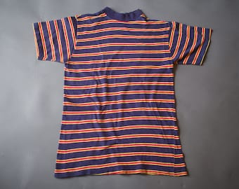 Vintage 1960s Striped Surfer T Shirt / Surf Skateboard T Shirt / Medium