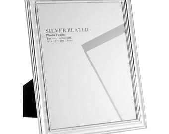 """Silver Plated Picture Frames, 8 x 10"""""""