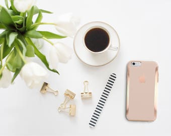 iPhone 8 Case iPhone 8 Plus Case iPhone X Toasted Wheat and Rose Gold Hard Case Otterbox Symmetry