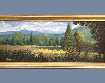 Original Oil Burke Mountain Field