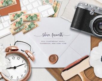 Self Inking Address Stamp, Wedding Stamp, RSVP Wedding Invitation Stamp. Personalized Address Stamps, Gift, Custom Rubber Stamp, Calligraphy