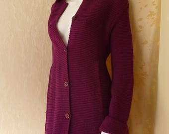 Hand knitted coat. High Country wool/alpaca. Size L/XL