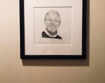 Nelson Mandela Pencil on Paper