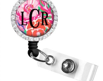 Badge Reel, Nurse Retractable Badge Holder, Personalized Badge Reel, ID Badge Clip (707)