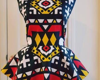 Peplum Ankara Top African Clothing African Print Top African Fashion Women's Clothing African Fabric Ankara Fashion Ankara African Blouse
