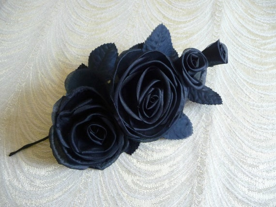 Dark navy blue silk roses and buds for corsage gowns hats dark navy blue silk roses and buds for corsage gowns hats millinery flowers 3fn0061n from apinkswan on etsy studio mightylinksfo