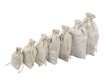 50 Cotton Bags, Gift Bags, Favor Bags, Wedding Bridal Decor, Cotton Gift Packing, Party Gift Wrap, 50pcs/lot