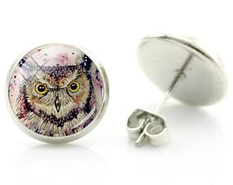 Owl Earrings - New - Pair!