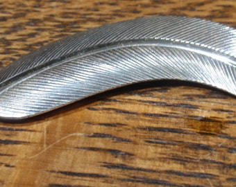 Sterling Vintage Leaf Brooch