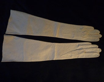 1940's Gloves long Viola Weinberger cream pigskin