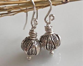 Petite Silver Earrings   Fine Silver Leaf Earrings   Sterling Silver Earrings