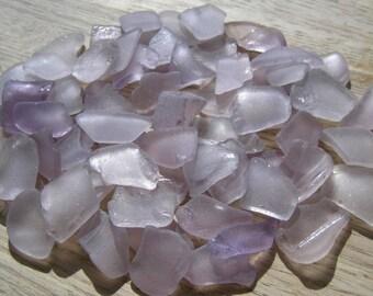 Light Lavender Purple Beach Sea Glass Large
