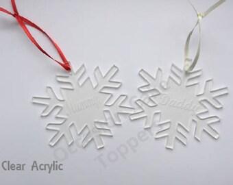 Personalised Name Christmas Tree Decoration - Any Name - Snowflake Shape