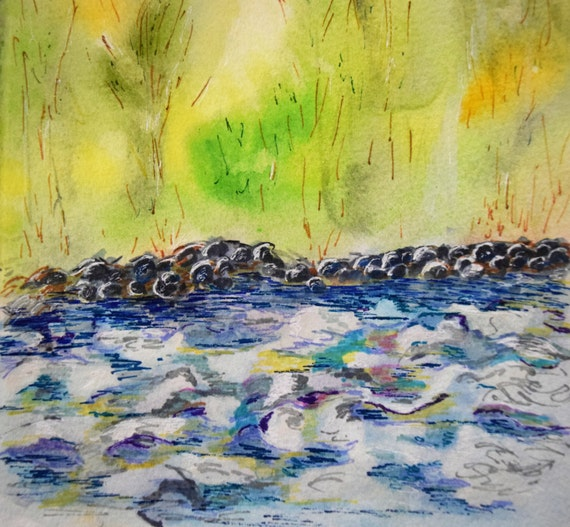 Painting, watercolor, Dolores River
