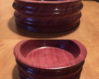 Purple Heart snack serving bowl