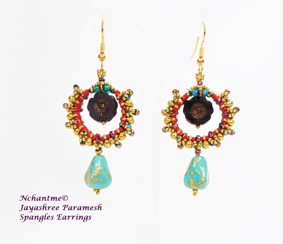 Spangles Earrings Tutorial Instant Download