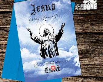 No49 BIRTHDAY CARD Jesus Adult Humour Funny Rude By Close to the Bone Humorous Greetings Card By Close to the Bone