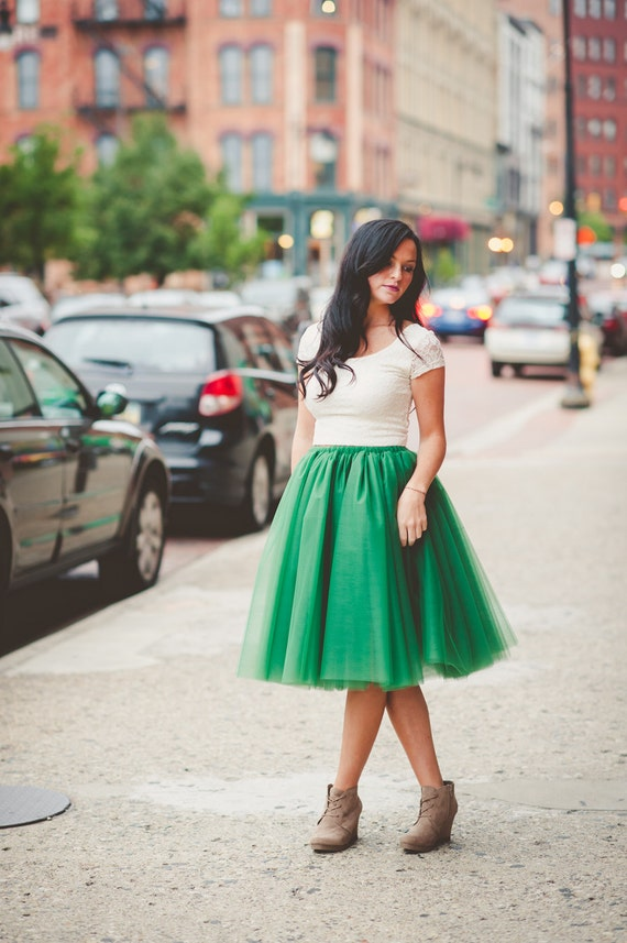 tulle skirt adult tutu adult green tutu womens tulle skirt. Black Bedroom Furniture Sets. Home Design Ideas