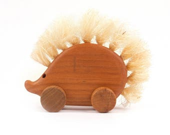 Wooden eco friendly toy - SMALL HEDGEHOG