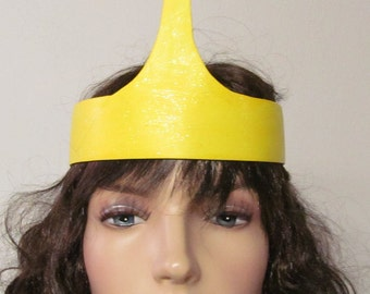 Princess Bubblegum Crown Costume Cosplay Adventure Time Yellow Blue Gem