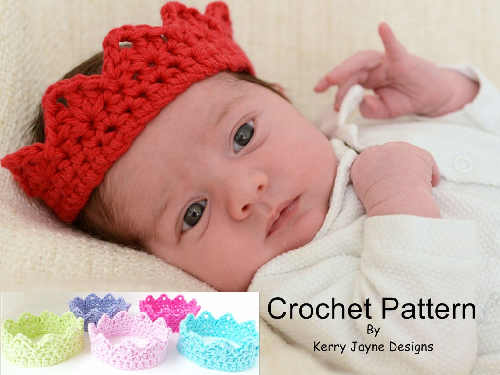 CHRISTMAS CROCHET CROWN Pattern Babies and Adults Newborn