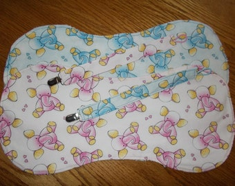 Burp Cloths, Pacifier Clips, Cotton Burp Cloths, Burp Rags, Baby Gifts for Twins, Paci Clips, Baby Shower Gifts