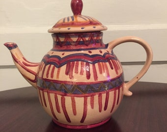 Beautiful Handmade Ceramic Teapot By An Artist @ Misericordia In Chicago