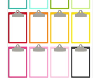 clipboard stickers for life planner vertical for Erin Condren -mambi the happy planner Full Box  To Do Tasks