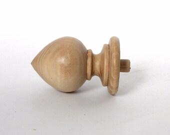Wood Finial Finials Post, Clock, Craft Wooden Vintage Cap Newel Furniture