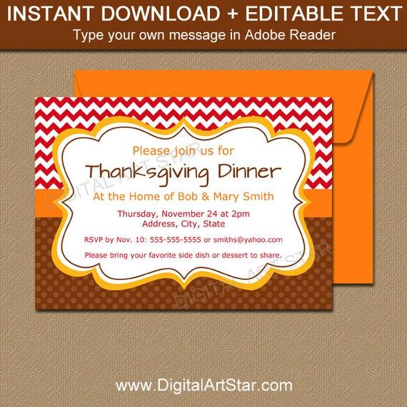 Thanksgiving invitation template thanksgiving birthday stopboris Gallery